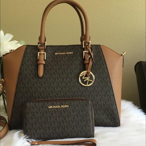 Michael Kors Handbags - Michael Kors Large Ciara Satchel & wallet